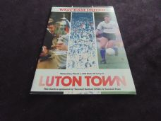 Luton Town v West Ham United, 1988/89 [LC]